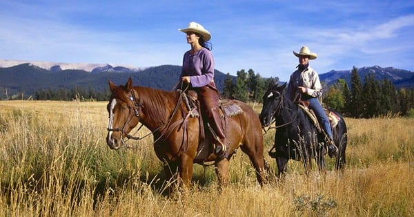 Riding in a group can help to improve your horse's confidence