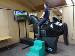 Some stables have a mechanical horse you can learn to ride on