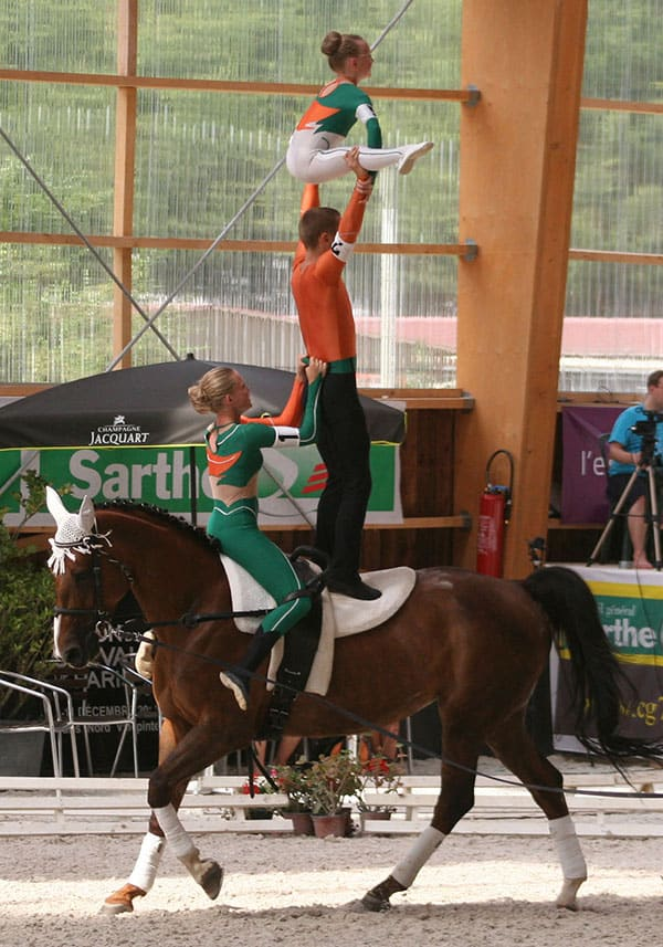 Equestrian vaulting has been around for centuries