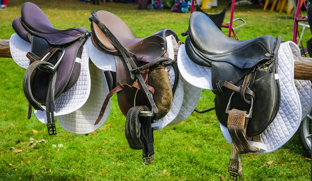 Make sure your saddlery is securely locked away when you're not using it and that its security marked too