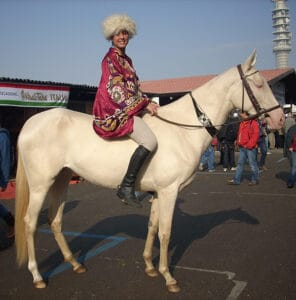 The Akhal Teke is very rare which is one of the reasons why its so expensive