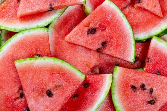 Cut the watermelon up before feeding it to your horse
