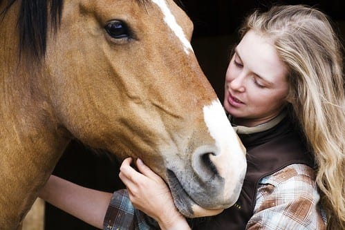 If you're calm around your horse they'll be calmer too