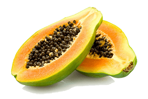 Papayas make good treats for horses, especially if they're suffering from constipation