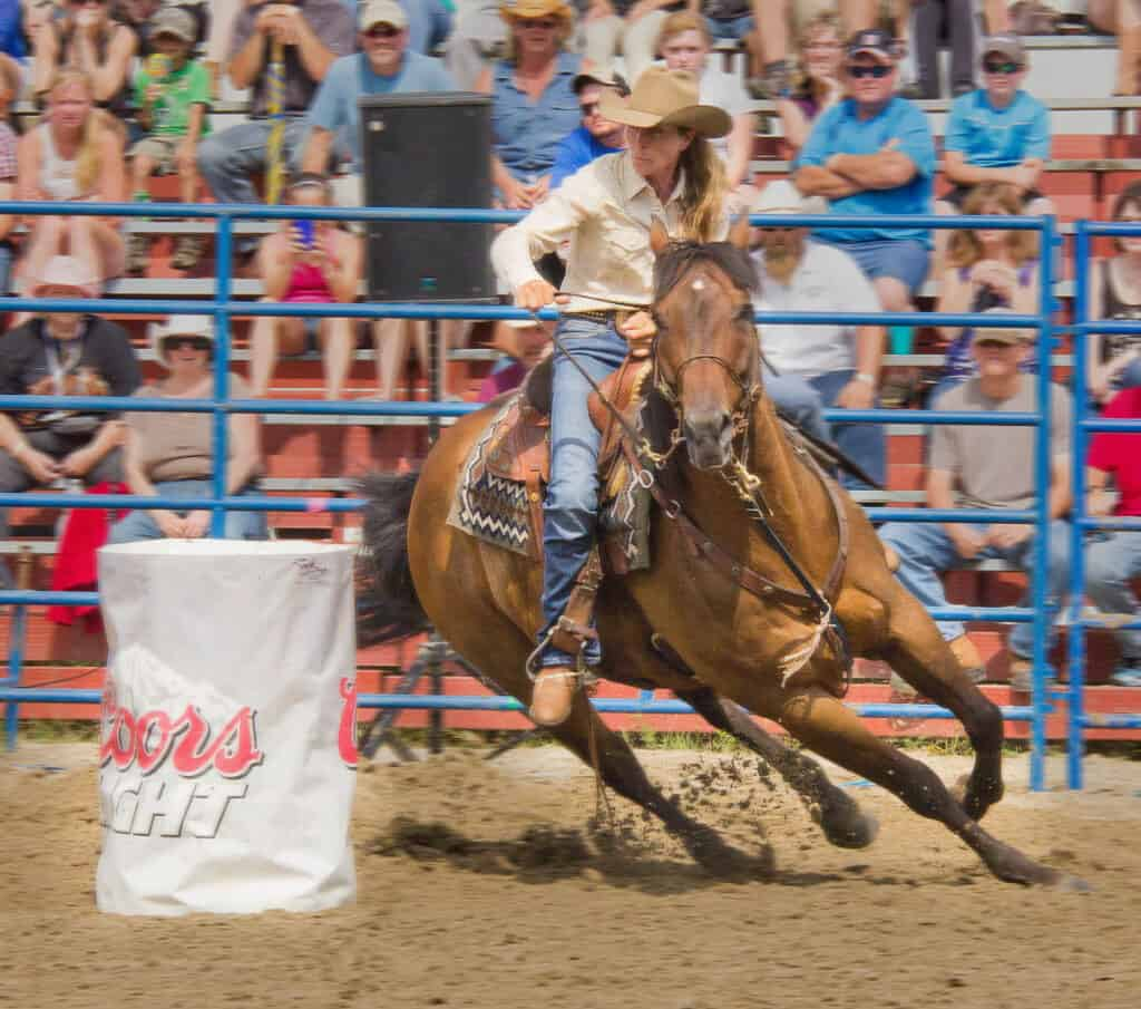 Barrel racing is one of the most dangerous horse riding discipline