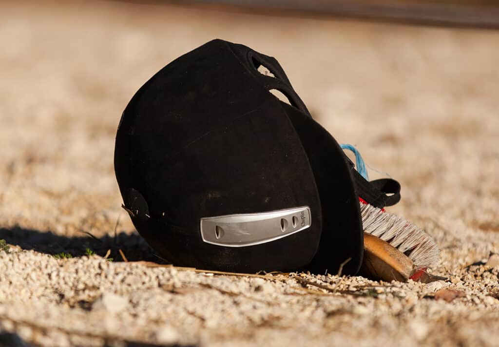 Wearing a riding helmet will help to protect you again serious injury and even death