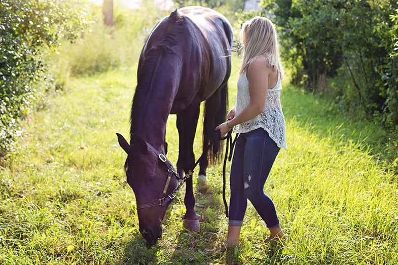 Taking your horse on a treasure hunt can be great fun
